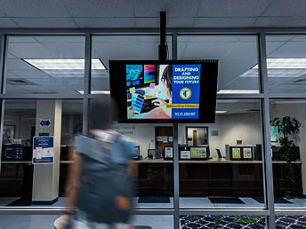 Indoor digital billboards